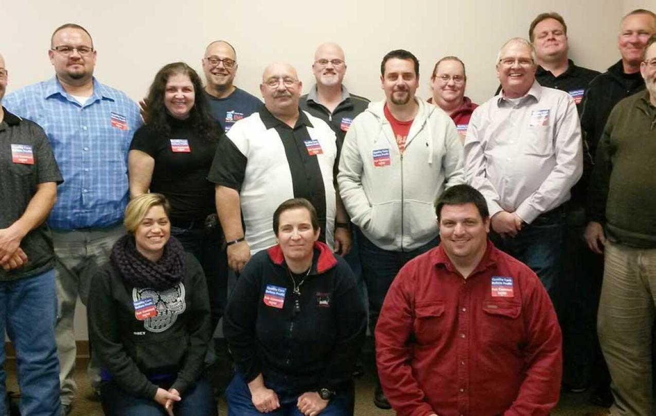 Local 4911 bargaining team
