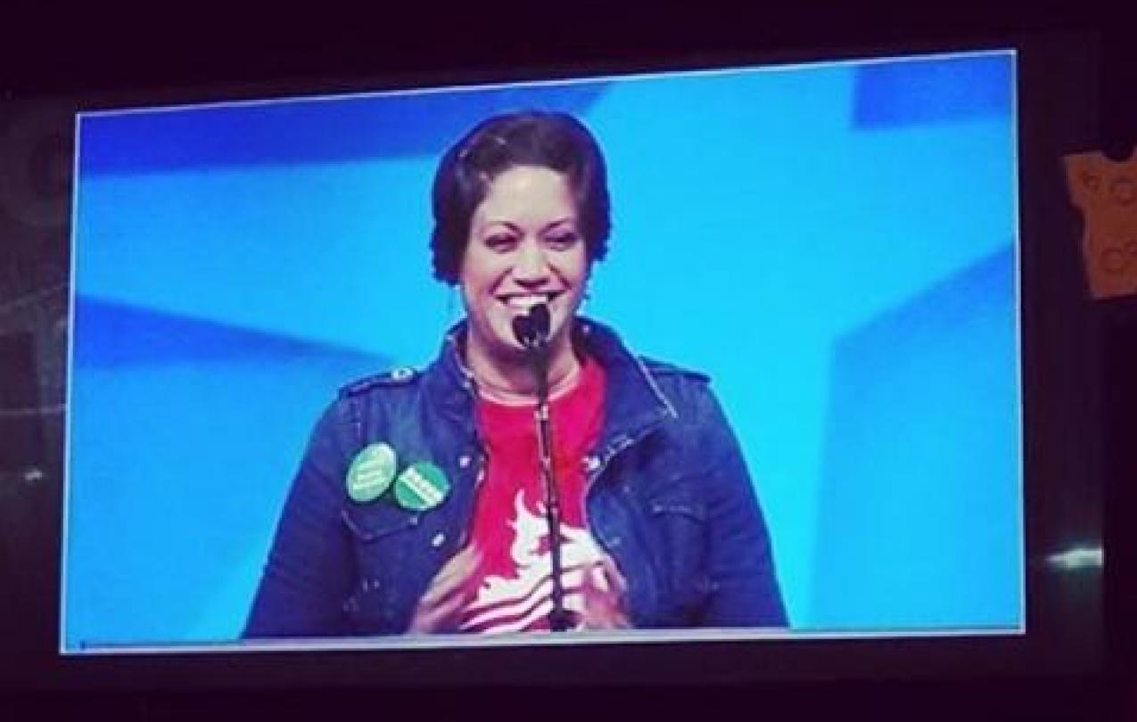 Yolanda Matos-McClintock addressing the AFSCME 41st International Convention.