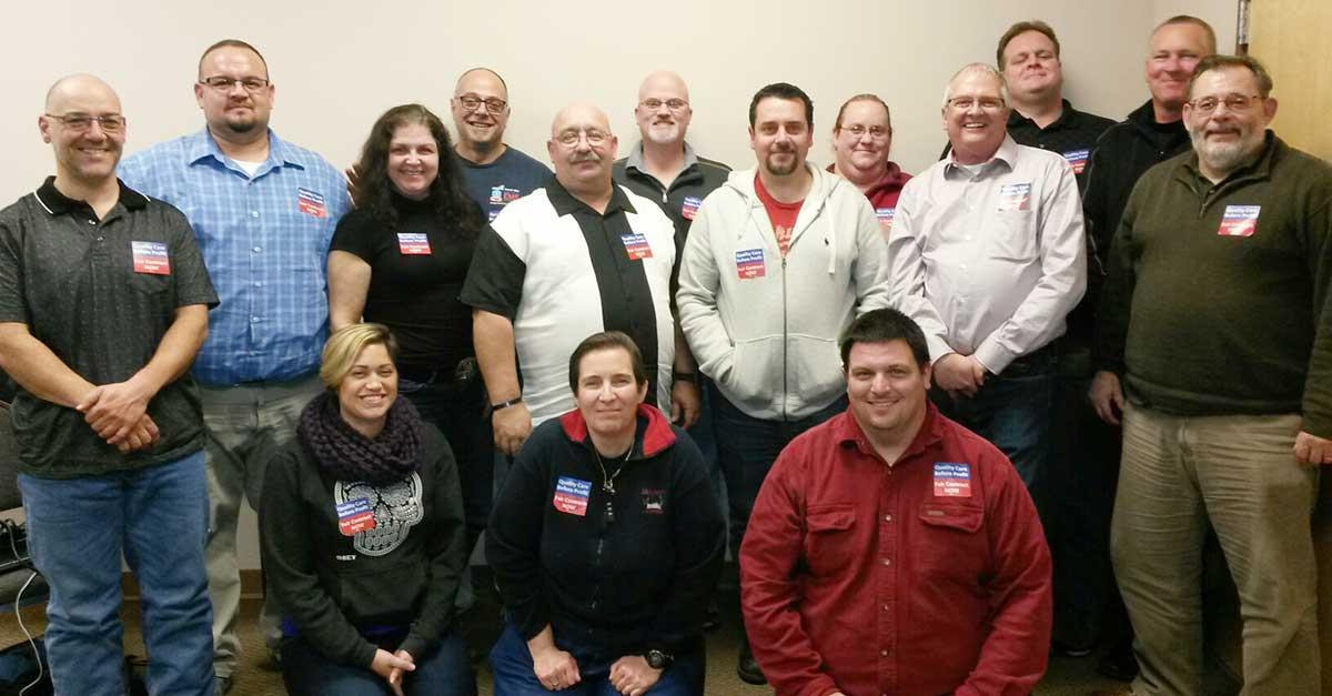 Members of AFSCME Local 4911's bargaining team.